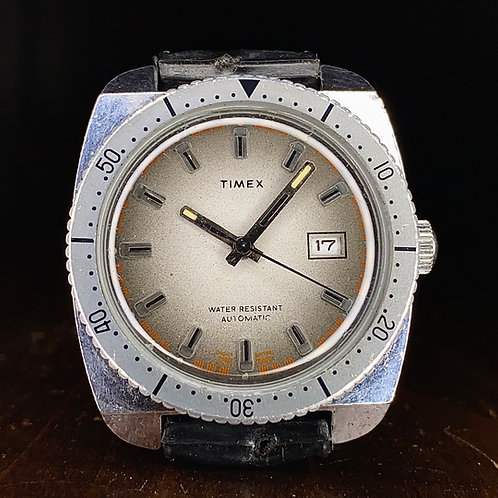 1976 Timex Viscount Sportster Skin Diver Automatic watch, grey dial, 47671 03276