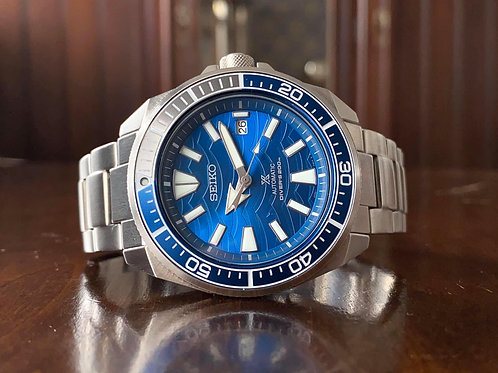Seiko Prospex 4R35-03G0, Save the Oceans divers watch with box, SRPD23K1