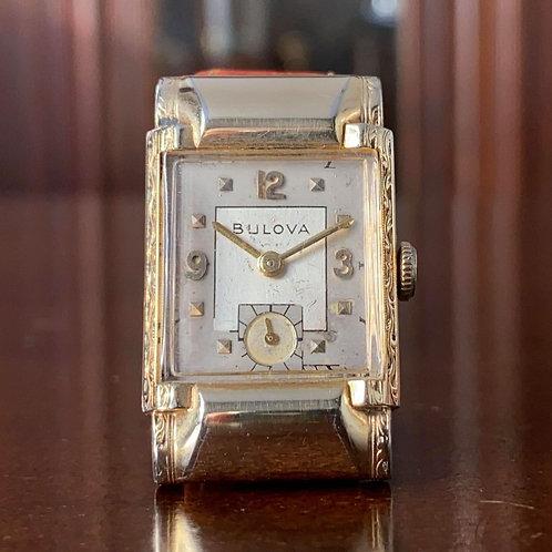 1950 Bulova Kirkwood watch, 8AC movement, serviced, Hooded lugs, Very Rare