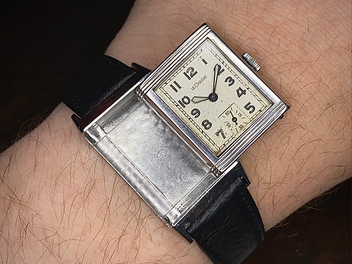 1934 Early LeCoultre Reverso Art Deco watch, cal 410 movement serviced