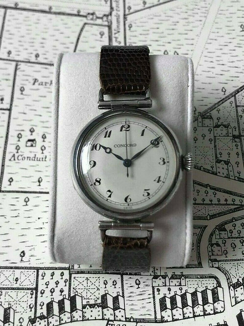Concord Solid Sterling Silver Trench watch, with Concord 243N movement
