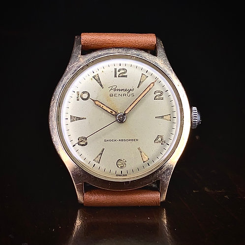 1950s Benrus Penneys Series 2155 watch BH25 (ETA 1081) movement Co-brand vintage