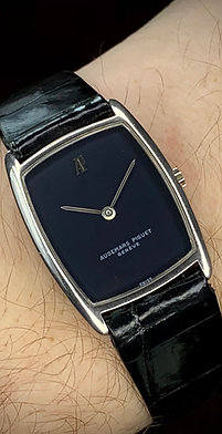 Audemars Piguet Tonneau, 1980s 18ct white gold with hang tag