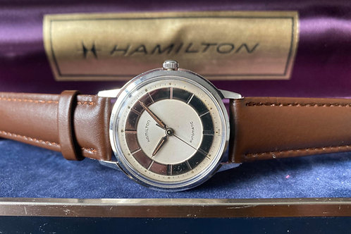 1960s Hamilton micro-rotor automatic dress watch, Buren 1000A, Original box