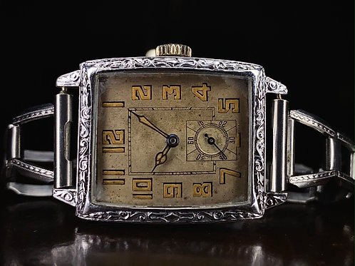 1920s Blancpain A Lecoultre American Art Deco dress watch, Serviced, gold filled