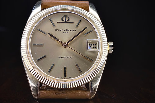 1970s 18ct Baume & Mercier Baumatic dress watch, Datejust style, BM 13210 Buren