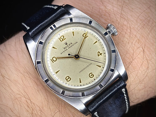 Rare 1946 Rolex Oyster Perpetual Chronometre Ref 3372, 9 3/4″' Hunter serviced