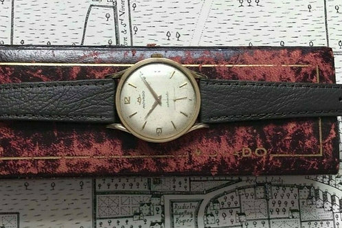 Movado 1950's 9ct gold dress watch, 115 movement, Bumper Automatic, with box
