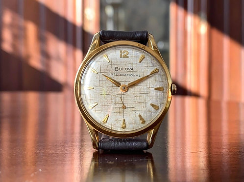 1960 Bulova International dress watch with fantastic dial 17 jewel 11AF movement