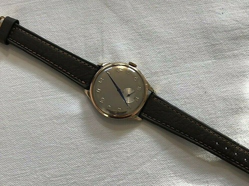 AS 1130 17 jewel, Technos oversized dress watch, with stunning Blue hands, 1960s