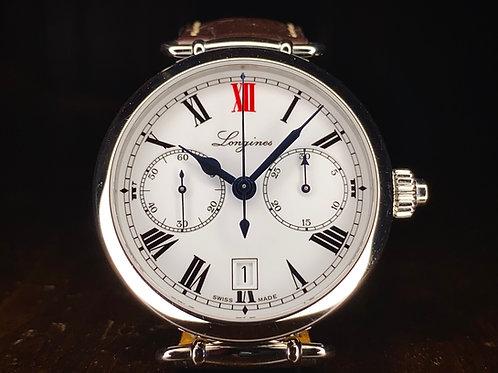 180th Anniversary Longines Heritage single pusher Chronograph 2.776.4.21.3 - B&P