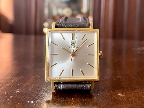 1960s Square Vintage Tissot watch, gold plated, cal. 781 movement, 29mm x 29mm