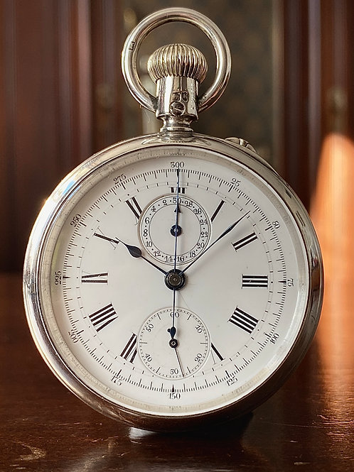 1885 Ollivant & Botsford Chronograph pocket watch, Arnold & Huguenin movement