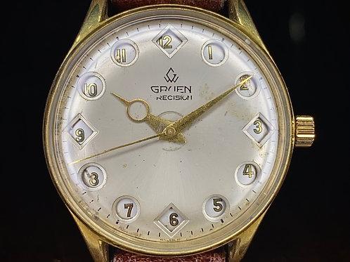 1960s Vintage Gruen Airflight Jump 24 Hour watch, ref 510rss 24 hour pilot watch