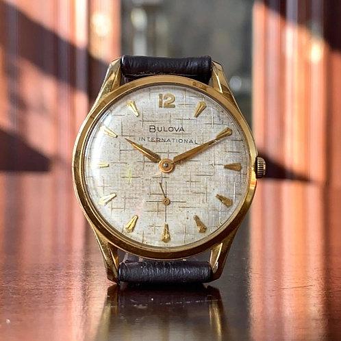 1960 Bulova International dress watch with fantastic dial 17 jewel 11AF movement