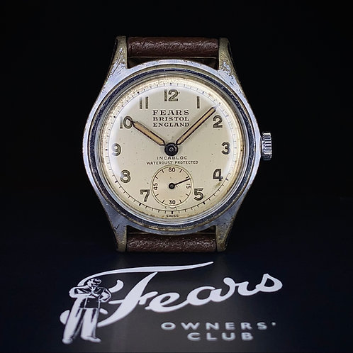 "1940s Fears ""Streamline"" model A1549, with Seeland Watch Co. movement"