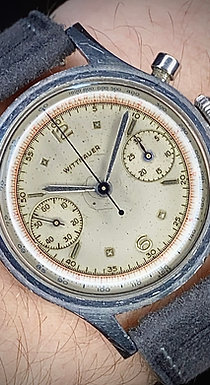 1950s Wittnauer Chronograph watch, Stainless Steel, Venus 188 serviced