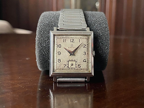 1939 Omega stainless steel square tank watch Omega R17.8 - 1st year of movement