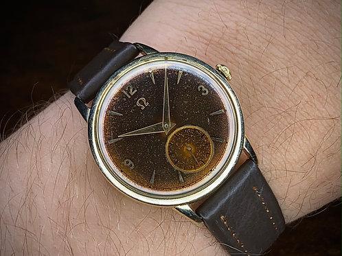 1940s Omega dress watch ref F6212, 14k gold filled, serviced cal 342 Bumper auto