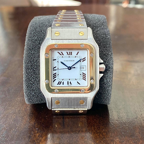 1990's Cartier Santos Galbee L 2961 29mm Two tone 18k and Steel Automatic Date