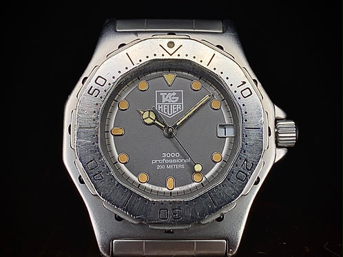 1989 Tag Heuer Professional 3000 watch, Ref 932.213, 36mm, Quartz ETA 955.412