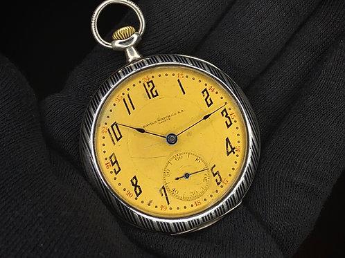1920s Art Deco Havila Watch Co Geneve Niello Silver HF cased high grade movement