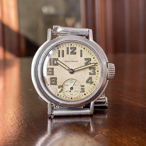 WW2 Waltham watch, US Ordnance Department issue, OG-70791, 9 jewel 6/0 '42, 282