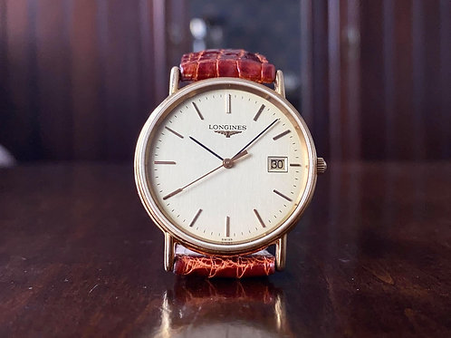 Longines La Grande Classique date, gold plated watch, Ref. L4.636.2, ETA 955.112