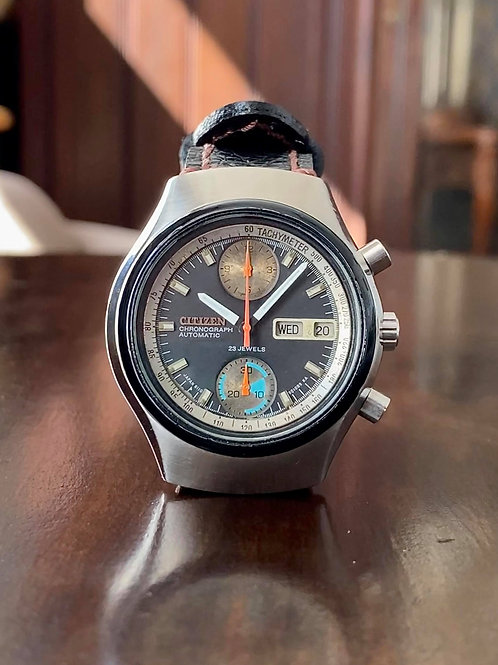1973 Citizen Chronograph reference 4-901053 Y 67-9011 calibre 8110 23 jewels
