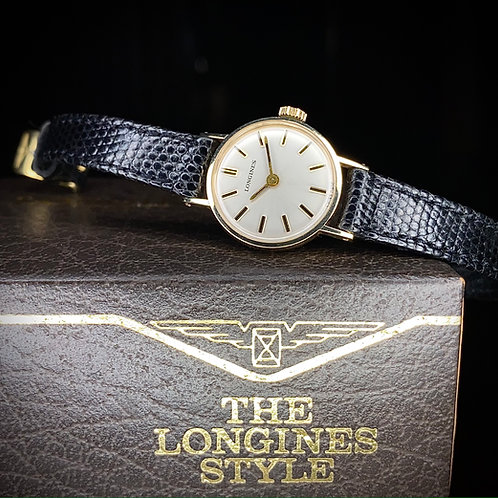 1970s 9ct gold Ladies Longines dress watch, cal 5602, Strap buckle box, near NOS