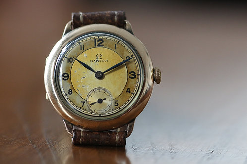1930's Omega with beautiful art deco Arabic dial