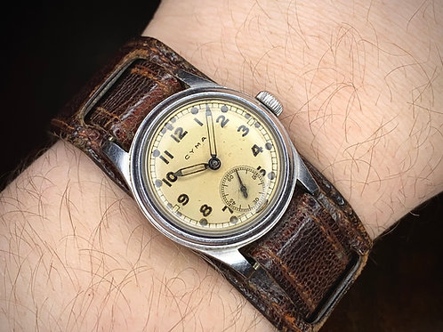 1940s Rare Vintage Cyma ATP WW2 British Military issue trench watch, Broad arrow