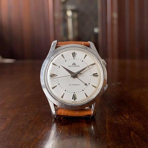 1960s Bucherer Alarm Dress watch, AS 1475 movement 21 jewel, crisp dress watch