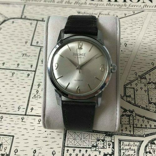 Precimax 17 Jewel incabloc watch, 1960's, Stainless Steel