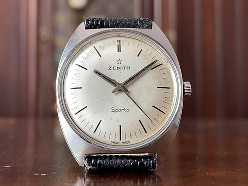 1960s Stainless Zenith Sporto watch, In-house cal. 2542 movement, Serviced