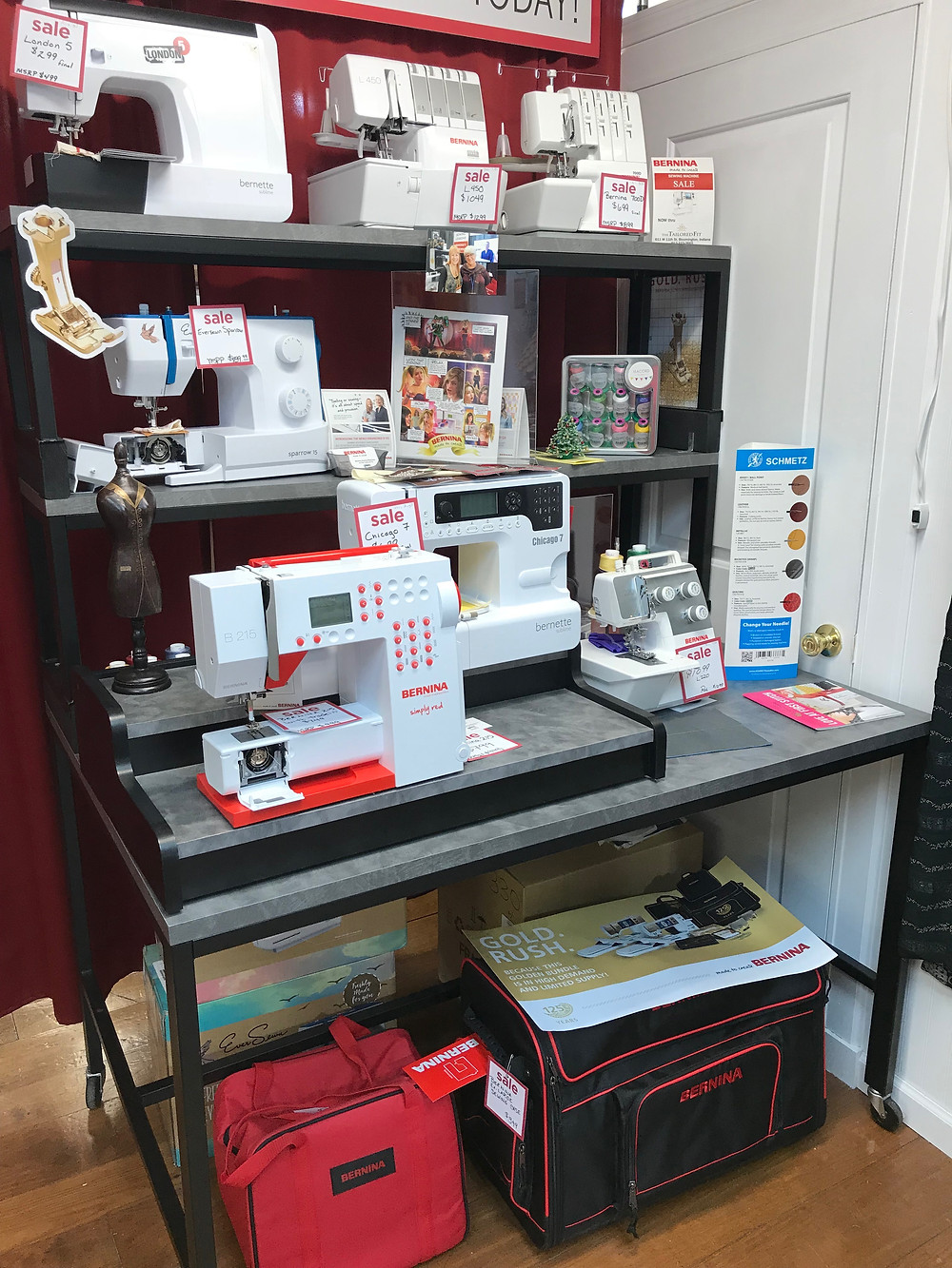 the tailored fit Bernina dealer