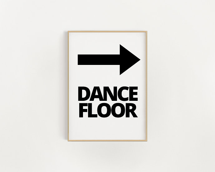 """Dance Floor"" Monochrome Poster"
