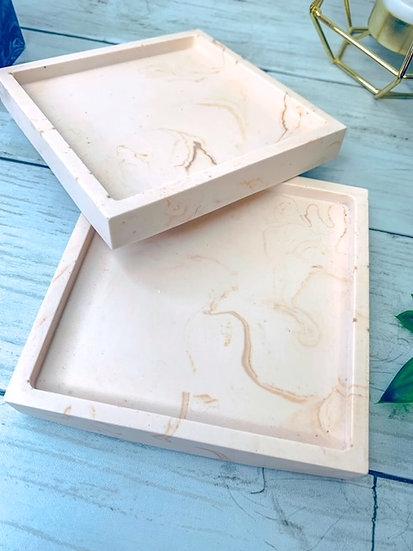 Nude Marble Trinket Tray