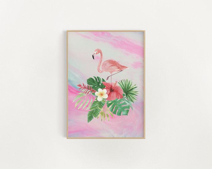 Flamingo Fabulous - Marble Print