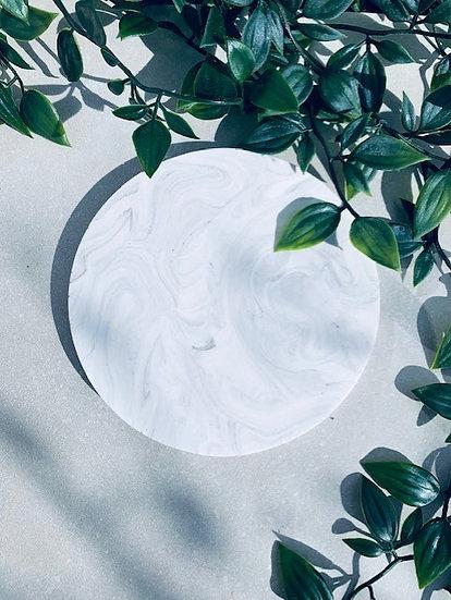 Medium Marble Round Tray