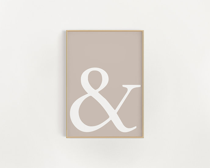 & Ampersand Gallery Wall Print