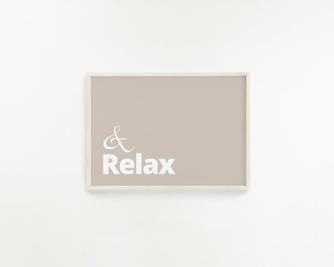 Oh Yes Please...  Relax Beige Print