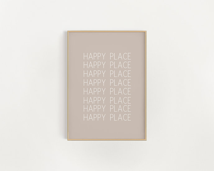 Happy Place - Neutral Typography