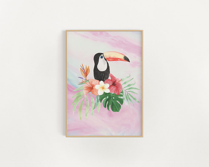 Toucan Tricia - Marble Print