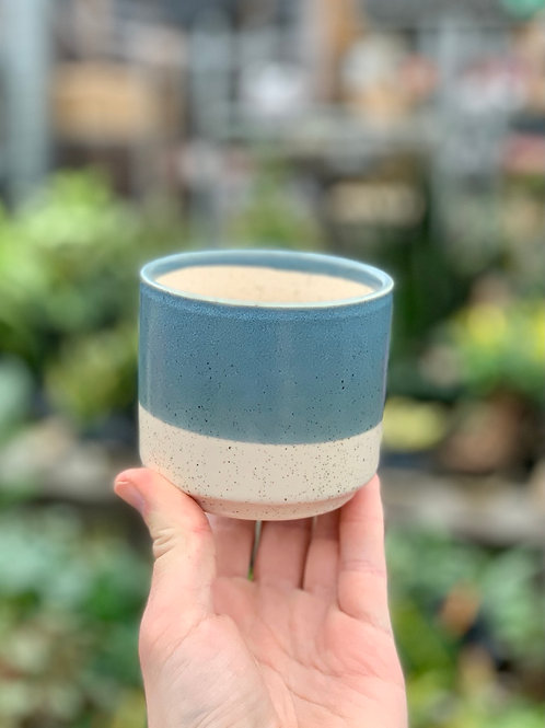 "3"" Miguel Blue Ceramic Pot"