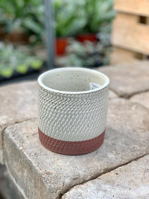 """4"""" Como Red Tray Ceramic Pot"""