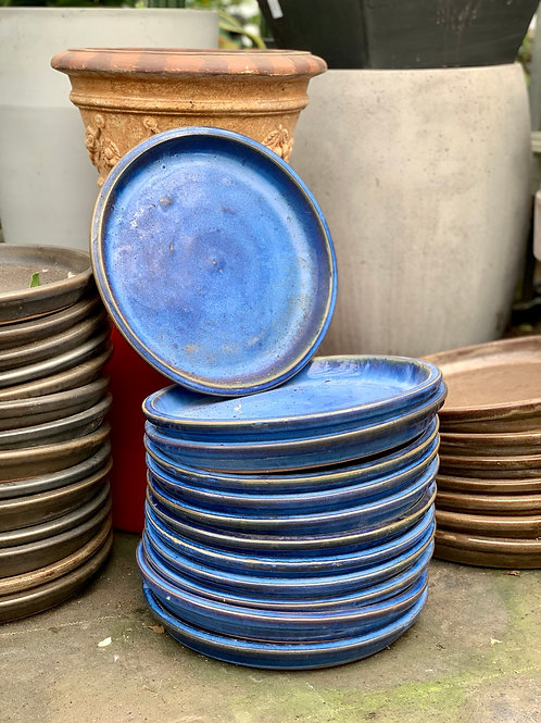Royal Blue Ceramic Glazed Saucers