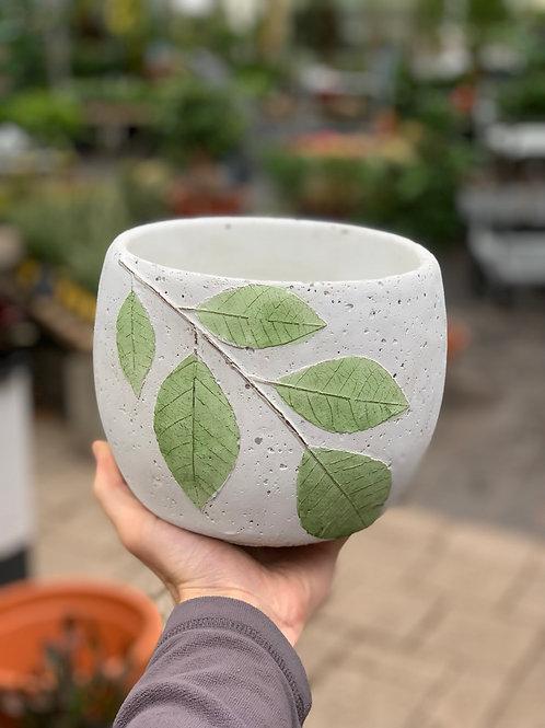 """6.5"""" Green Leaf Pot"""