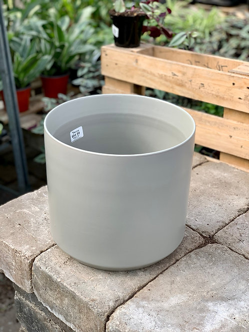 """10"""" Kendall Light Grey Ceramic Pot"""