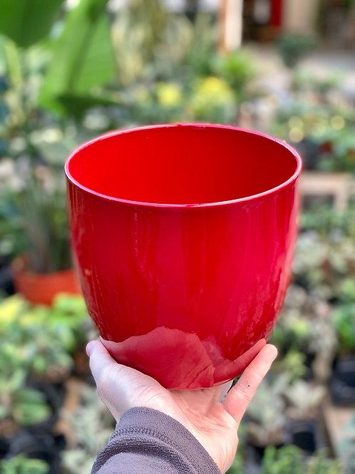 "6"" Basel Fashion Red Ceramic Pot"